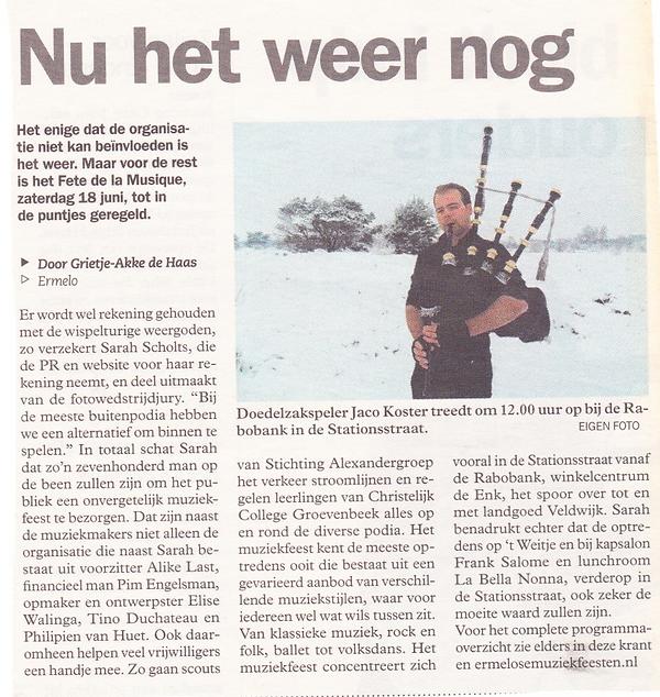 Interview Jaco Koster Doedelzakker Doedelzakspeler