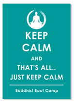 Keep Calm Buddhist Boot Camp Sticker