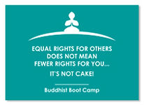 Buddhist Boot Camp Equal Rights Sticker