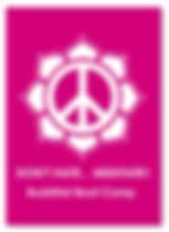 Don't Hate, Meditate Buddhist Boot Camp Sticker