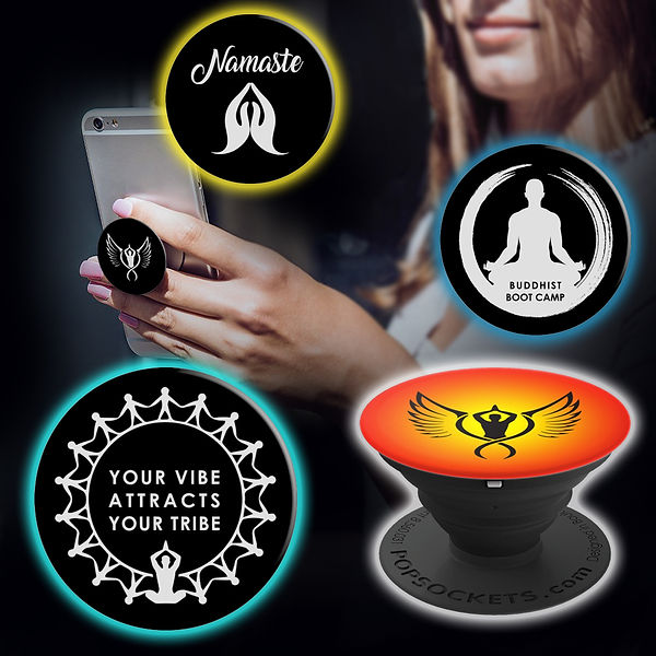 Buddhist Boot Camp PopSockets