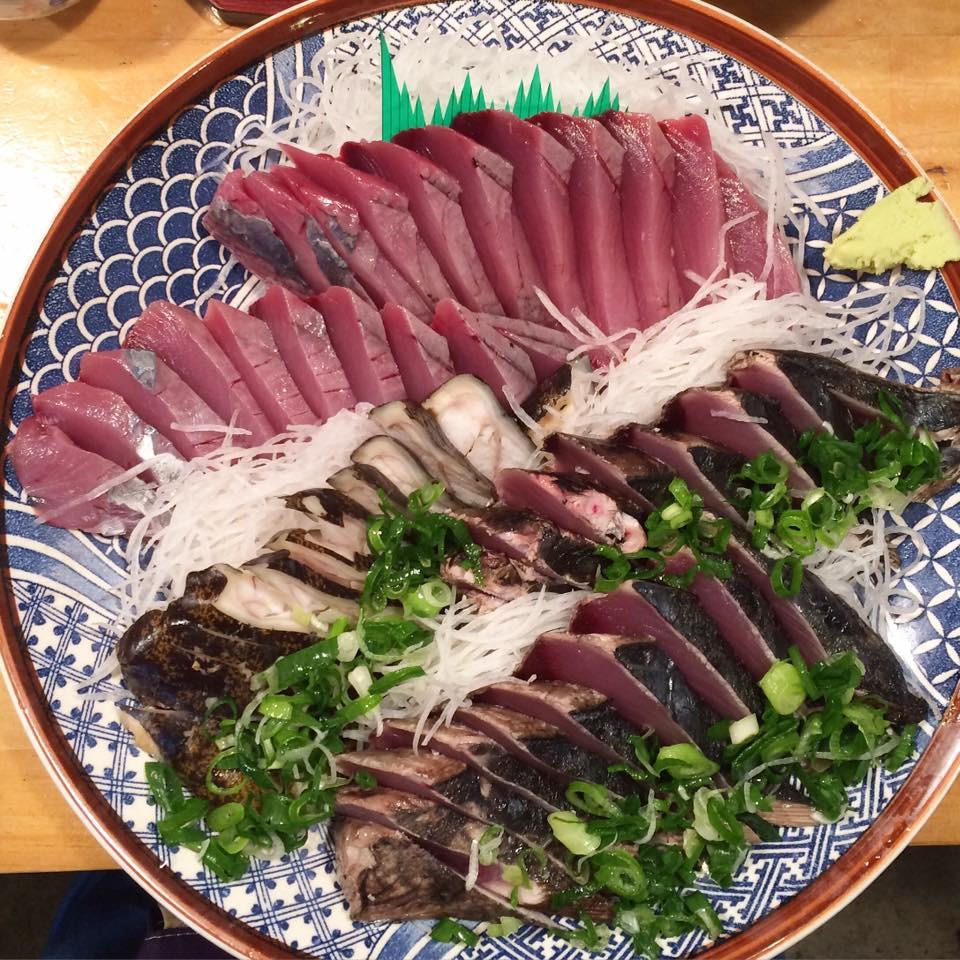 Bonito!  Sashimi (low) the above and Tataki at the botoom