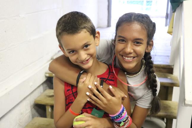Siblings at Kamp