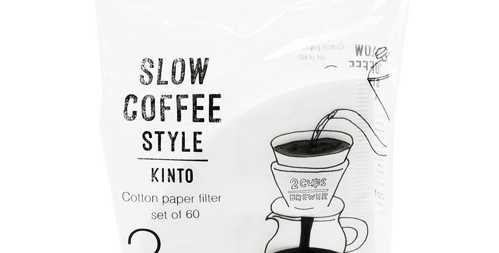 Kinto cotton paper filter – 60 pz