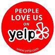 Image says people love us on yelp