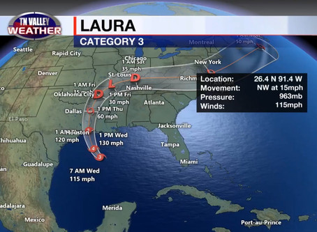 Laura Now A Major Hurricane