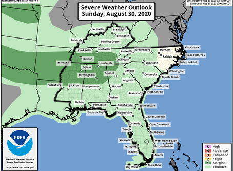 Scattered Strong Storms Sunday