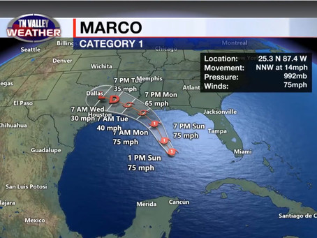 Marco Now A Hurricane