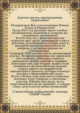 Команда СННВС России поздравляет с Новым Годом!