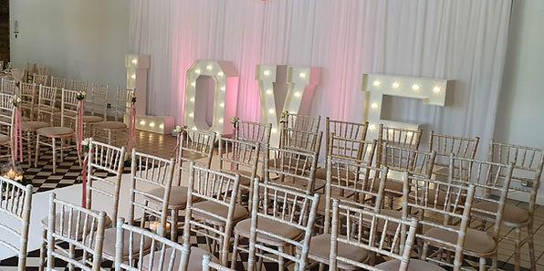 light up letter hire, halifax, wedding stylist halfax, west yorkshire