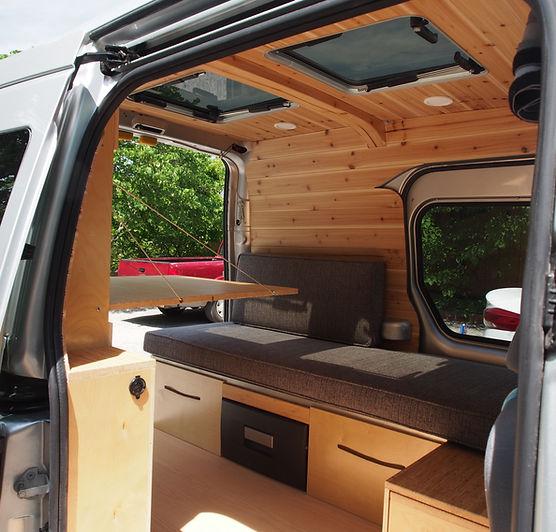Beautiful cedar and birch warm and cosy interior