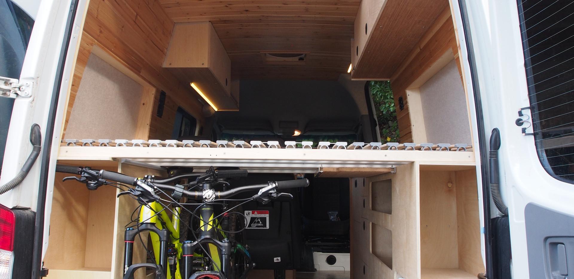Bike storage under the bed