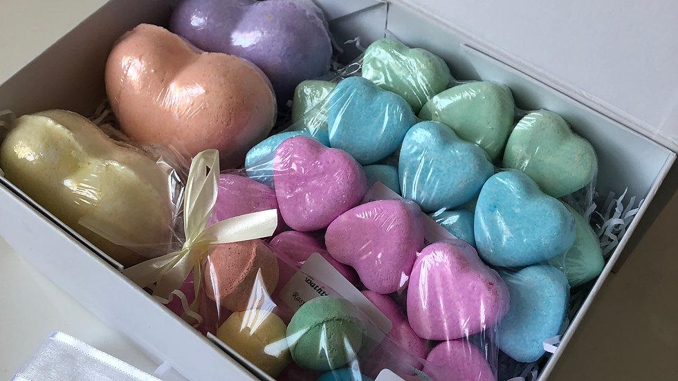 Assorted Love Heart Bath Bomb Gift Box