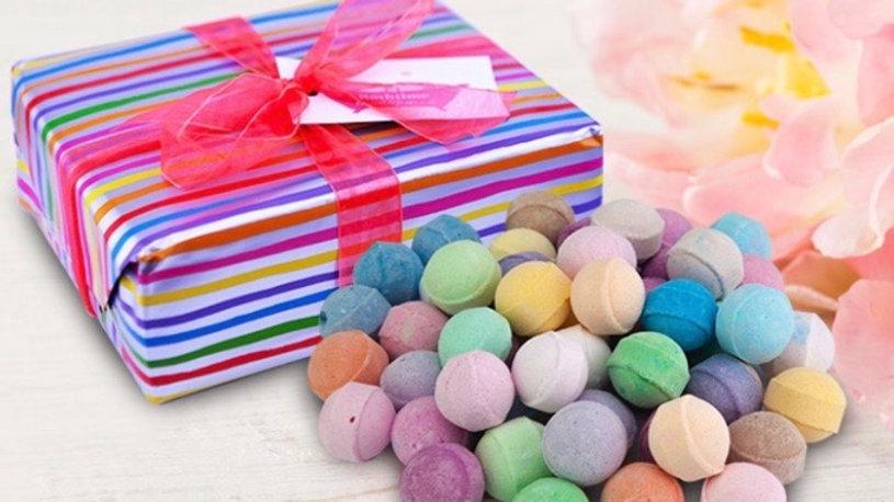 50 Assorted Mini Marble Bath Bomb Gift Set