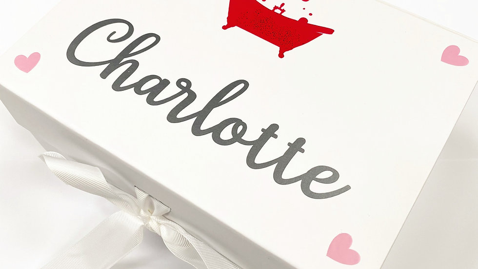 Personalised Love Heart Bath Bomb Gift Box