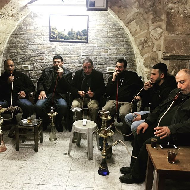 Smoking a narghila in the old city of Je