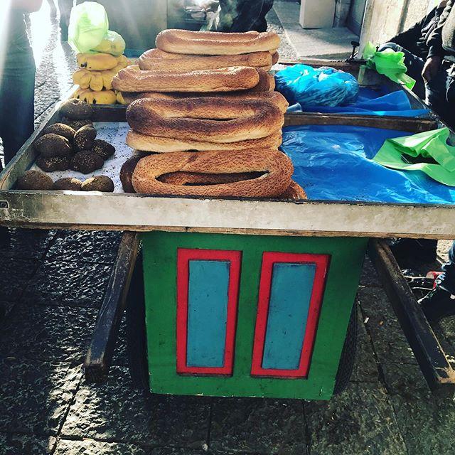 Bagels' seller at Jaffa Gate #jaffagate