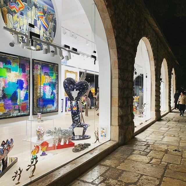 Jerusalem streets by night