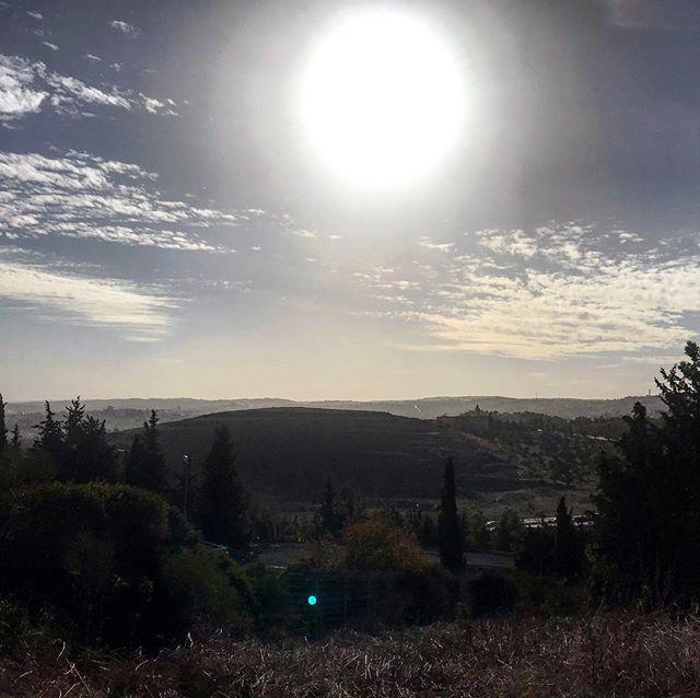 A look at Judean Hills from Kibutz Ramat