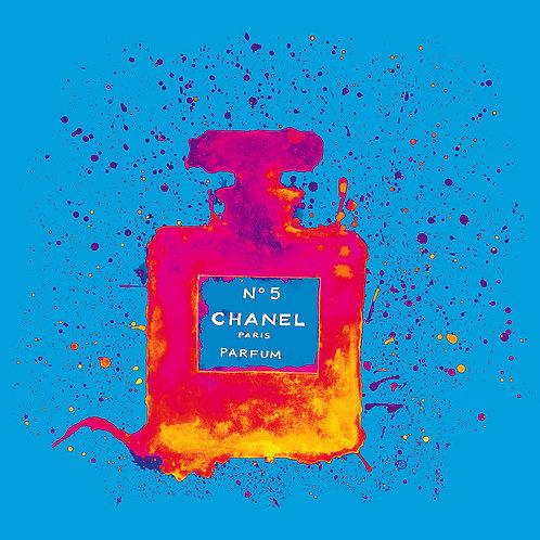 Chanelling No. 5 - Cyan/Magenta : Art Tile