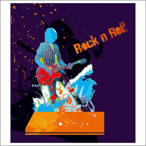 Rock n Roll - Purple : Fine Art Print