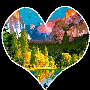 Yosemite Illustration - Luke Walwyn Studio