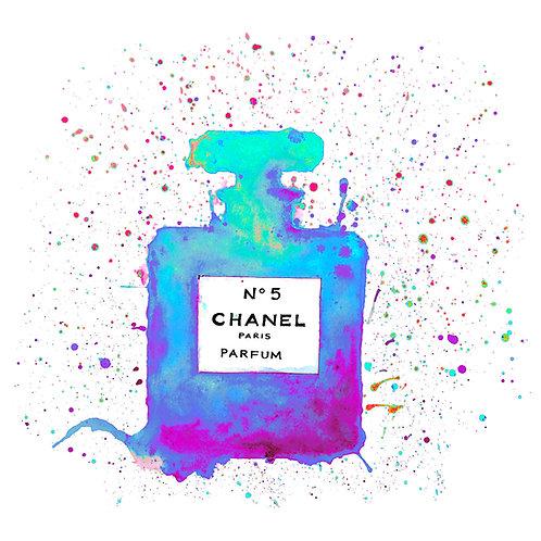 Chanelling No. 5 - Cyan/Blue : Art Tile