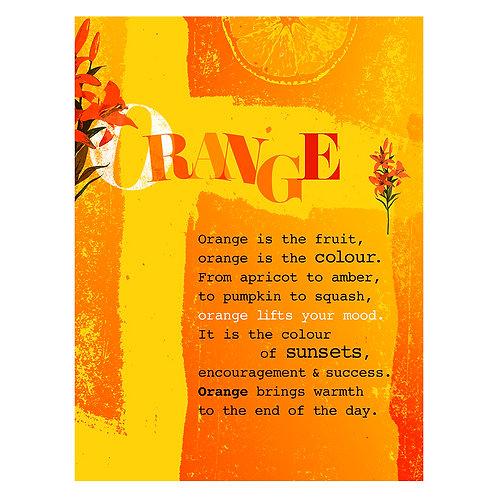 """Orange is the Fruit"" - Art Print"