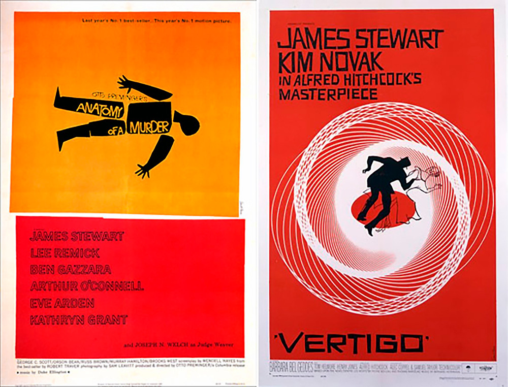 Saul Bass graphic design posters for film