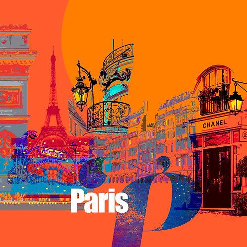 Paris Evening - Art Tile