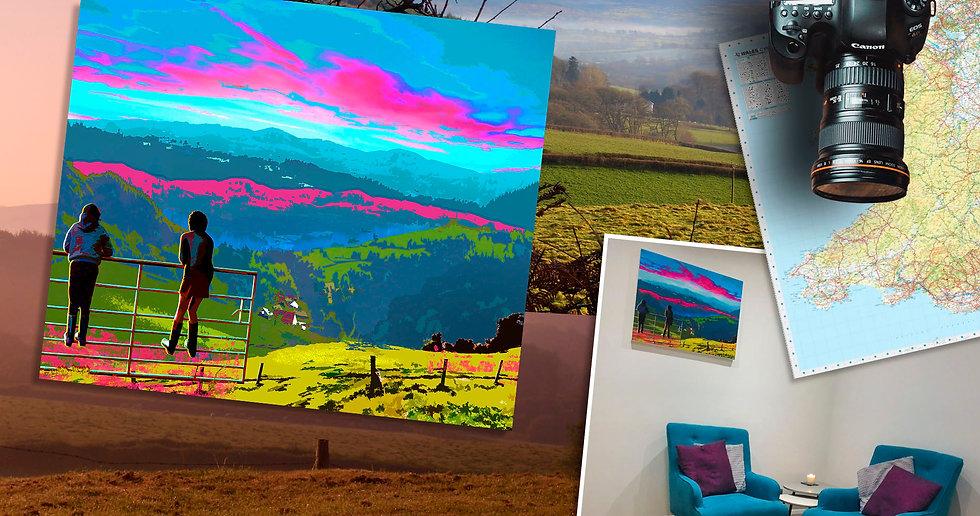 Llys Bach Fine Art Canvas - Luke Walwyn Studio