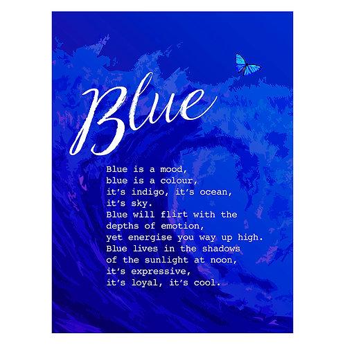 """""""Blue is a Mood"""" - Art Print"""