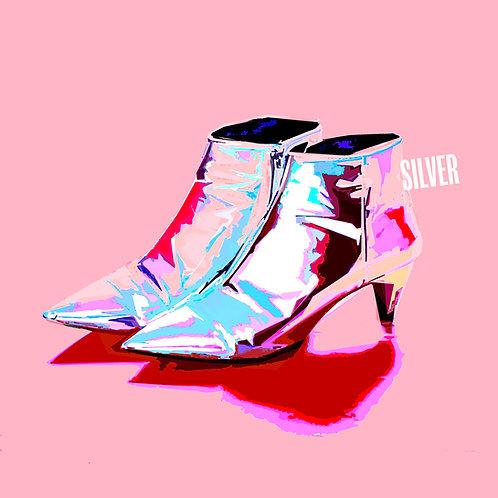 Silver Boots - Art Tile