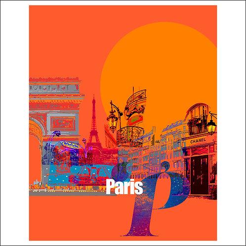 Paris In The Evening - Fine Art Print
