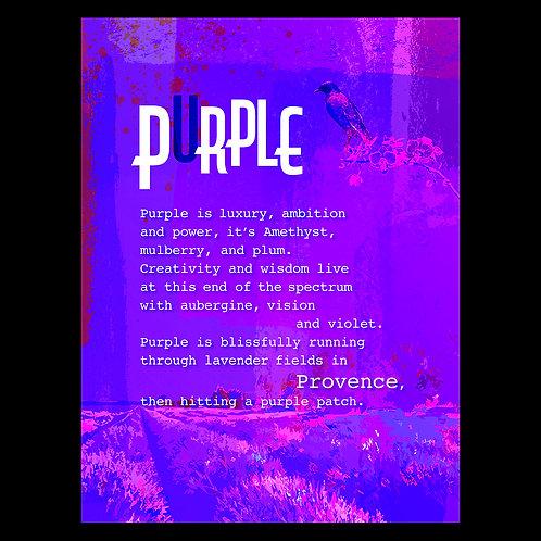"""Purple Patch"" - Art Print"