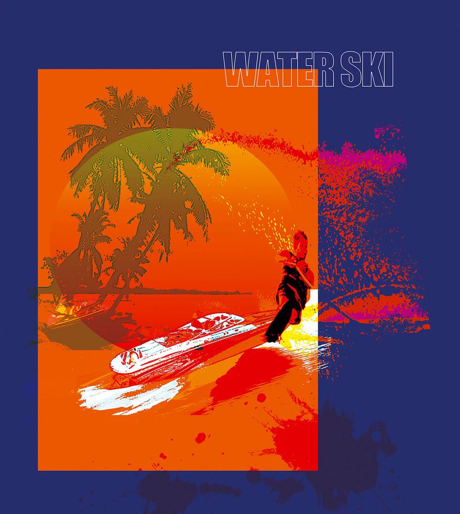 Water Ski Blue