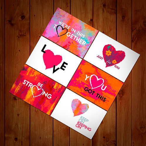 Set of 6 - Lovecards