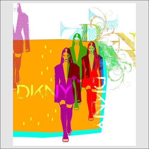 Runway DKNY - Fine Art Print