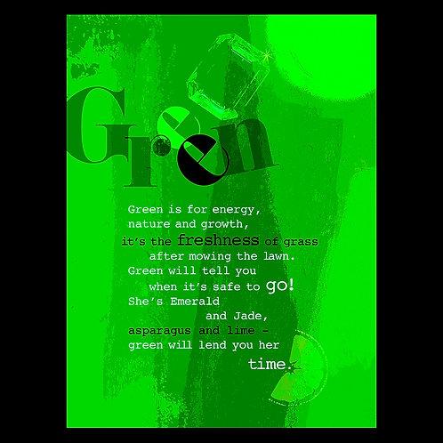 """Green is for Energy"" - Art Print"
