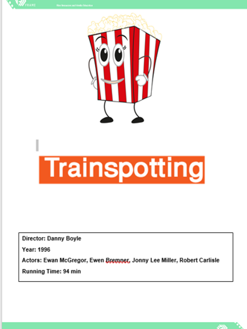A Level Film Studies Trainspotting Viewing Booklet