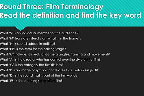 GCSE Film Quiz