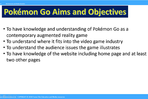 Pokémon Go | GCSE | Media Studies