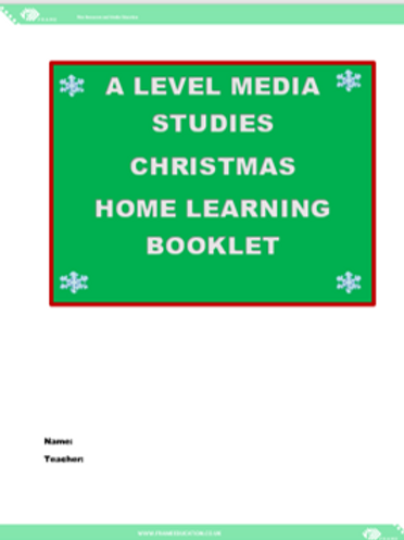 Christmas Home Learning Booklet A Level