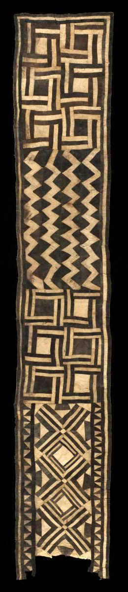 African Ceremonial skirt from the Bushong people of the Congo
