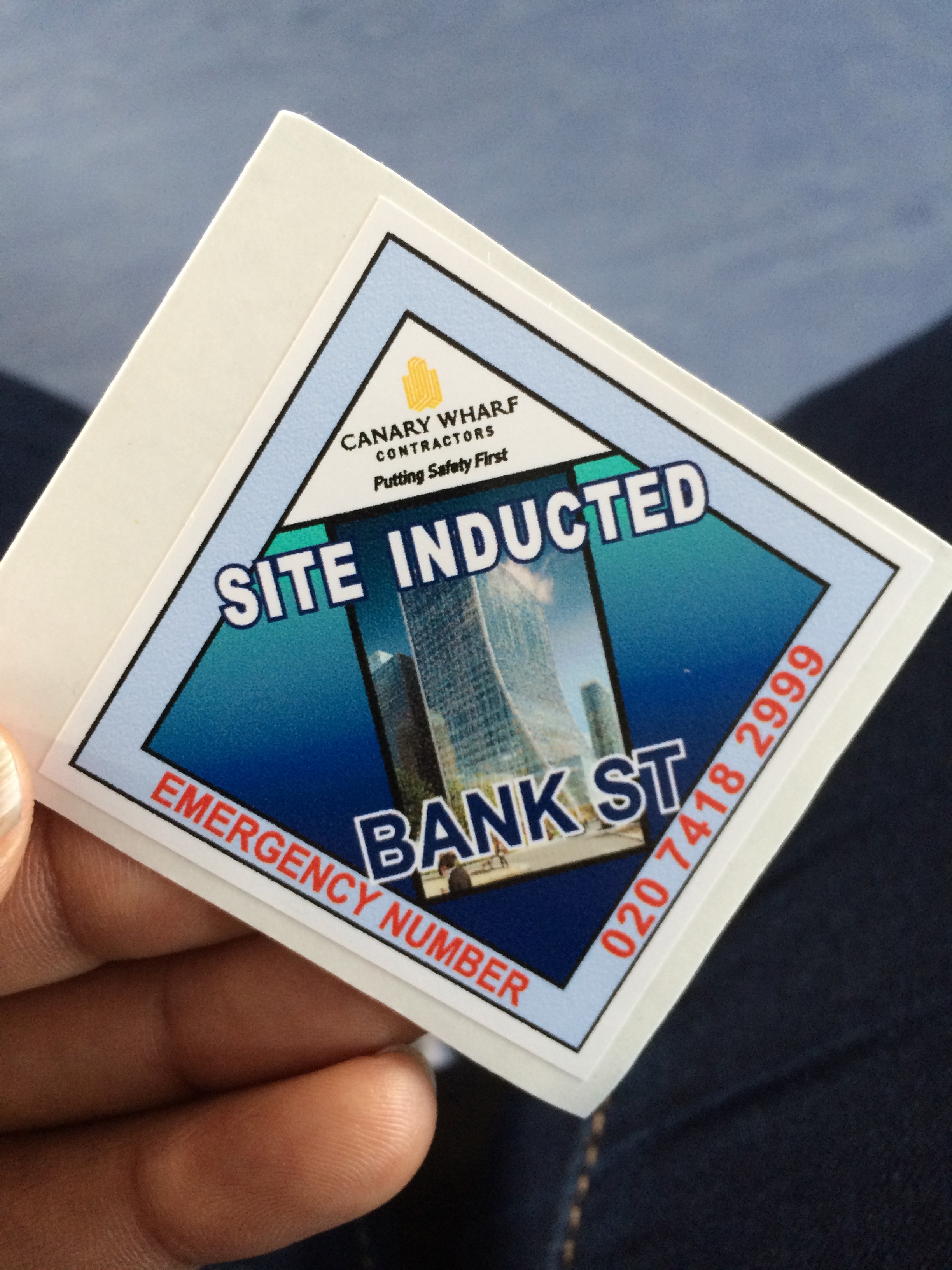 Construction site inducted