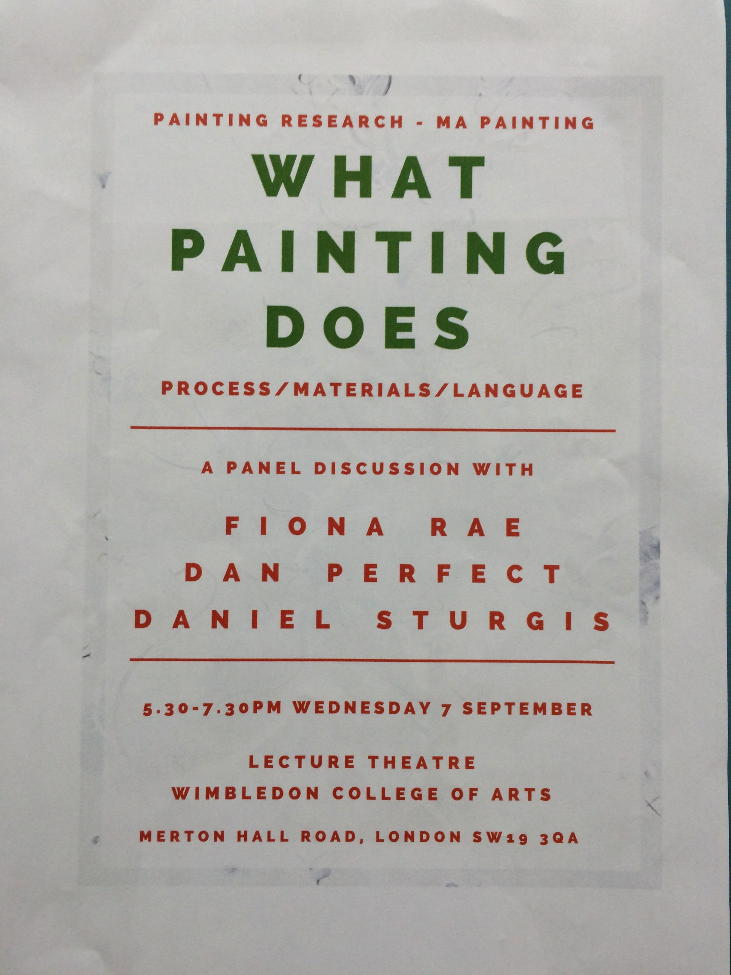 What Painting Does Lecture