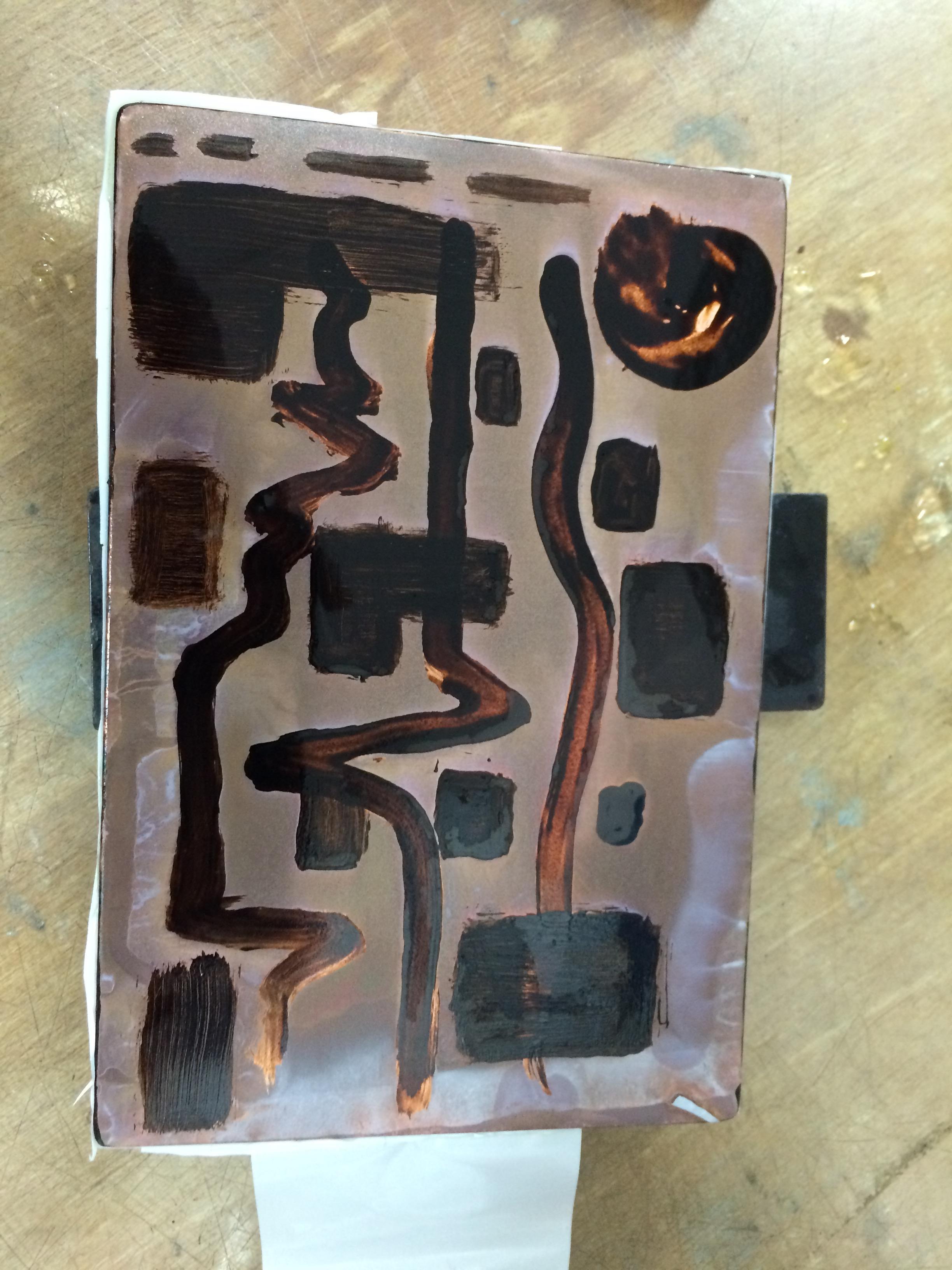 Aquatint printing plate