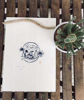Island vibes - Linogravure