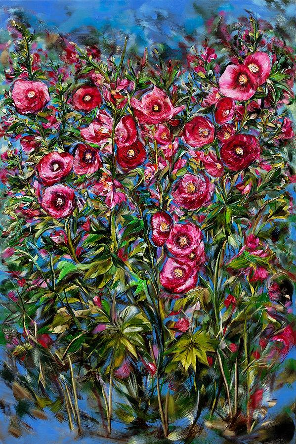 박미례 01 접시꽃  Hollyhock Oil on canvas 145c