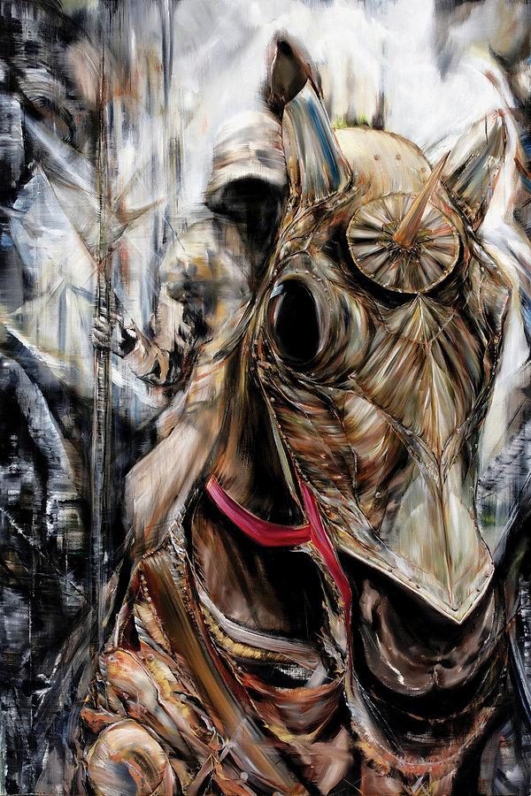 04-기사-The-knight-97x146cm-oil-on-canvas-